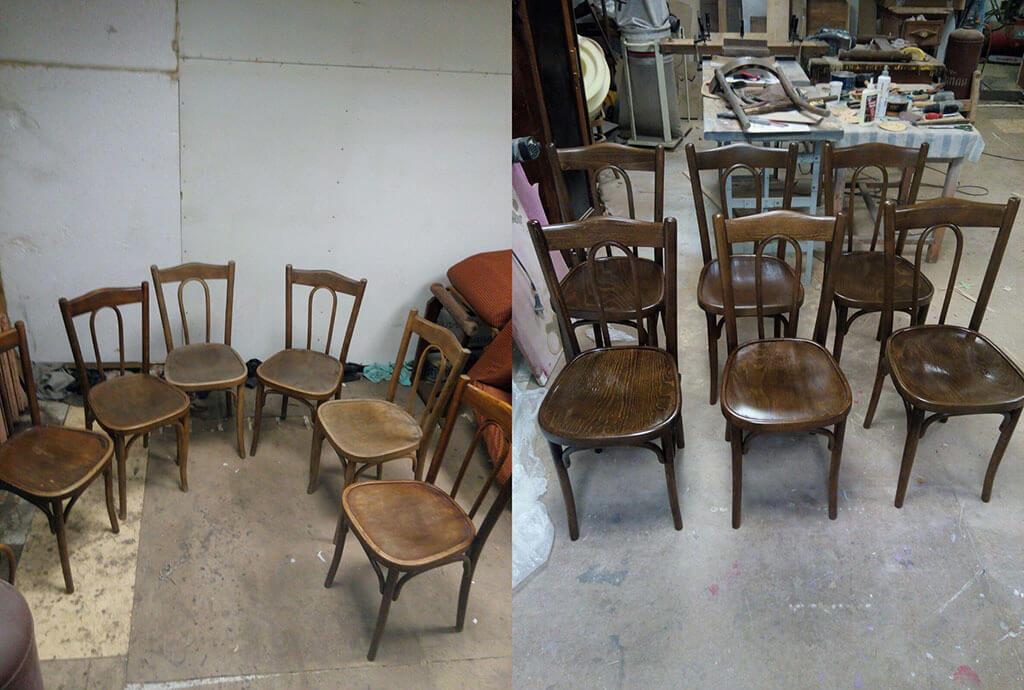 Реставрация стульев - перекраска и ремонт
