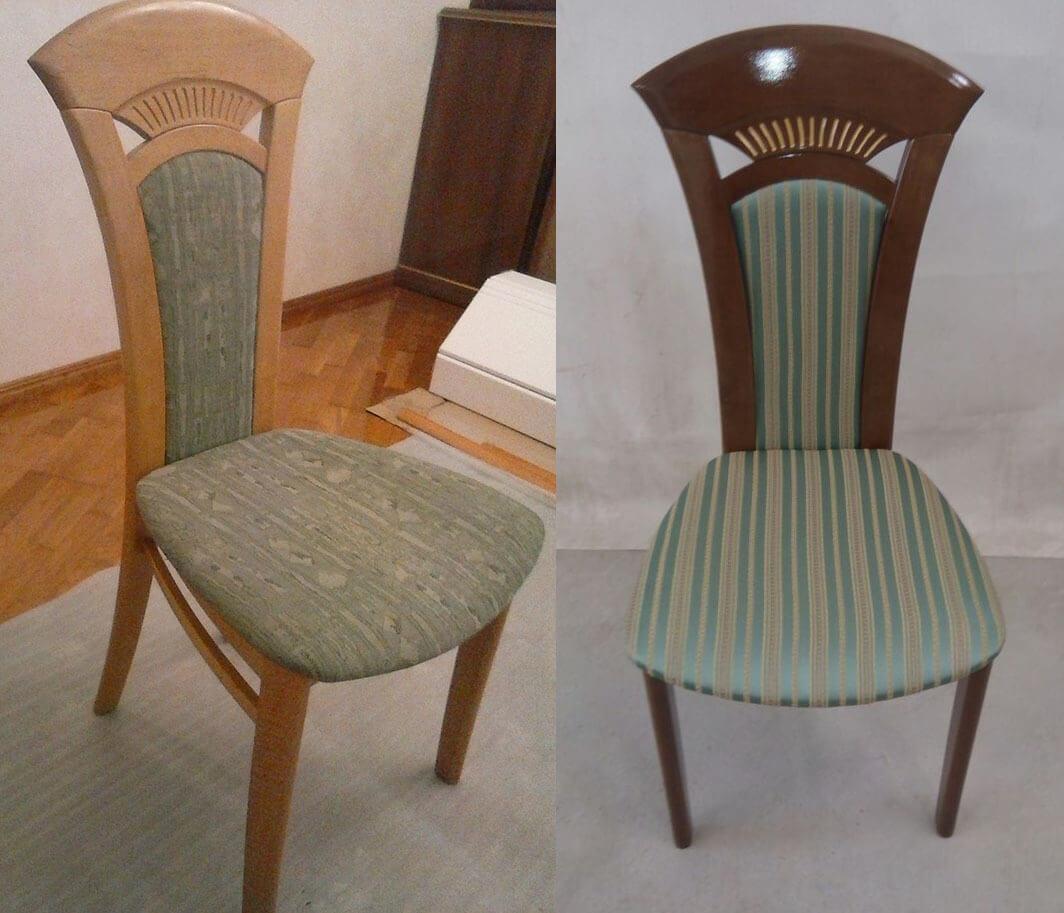 Смена дизайна мебели - перекраска, патинирование, перетяжка стульев